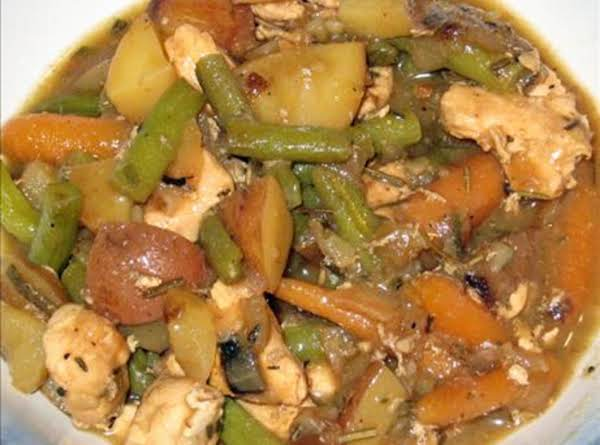 Chicken Stew With Roasted Balsamic Vegetables Recipe