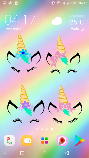 Cute Unicorn Girl Wallpapers Kawaii Backgrounds Apk