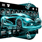 Neon Tech Car Keyboard Theme