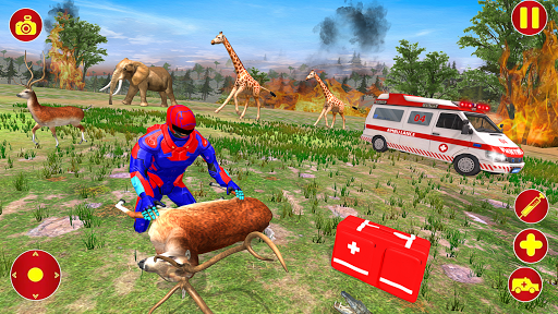 Light Superhero Speed Hero Robot Rescue Mission apkdebit screenshots 5