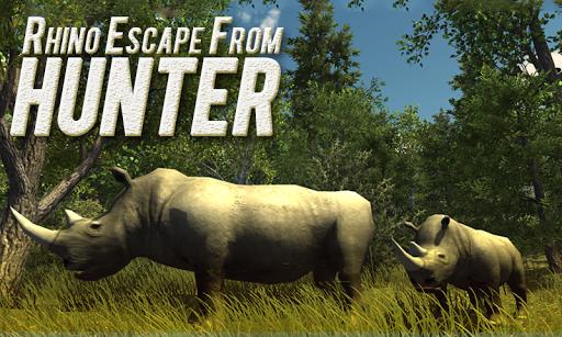 Rhino Escape From Hunter