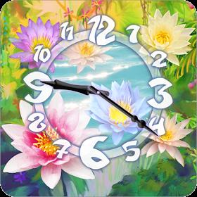Sacred Flower Clock Widget