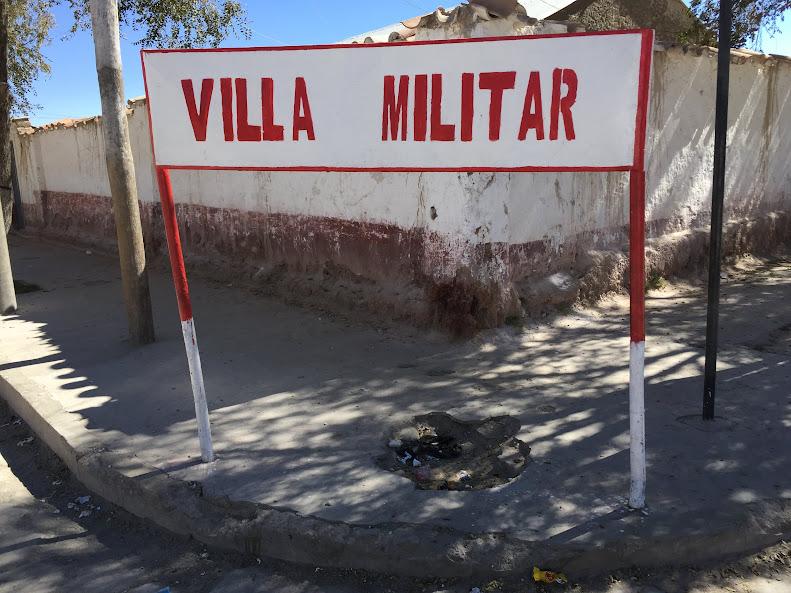ウユニにあるボリビア軍の施設
