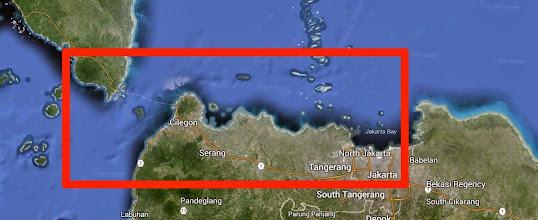 Photo: Por ese cuadro rojo discurrió el road-trip entre Java y Sumatra.