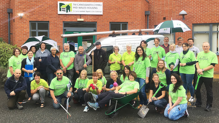 Housing association staff give up a day to help charities