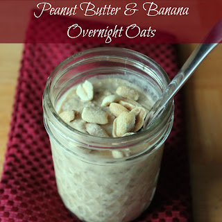Peanut Butter and Banana Overnight Oats.