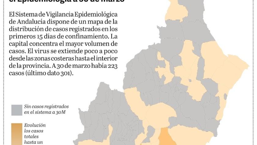 Mapa de incidencia en las dos primeras semanas