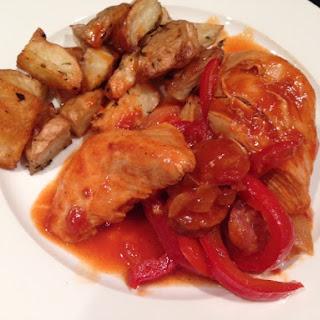 Spanish Chicken and Chorizo Casserole.