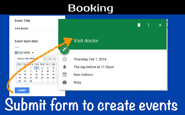 form to calendar google forms add on