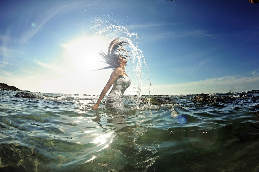 Splash by Victor Vertsner - People Portraits of Women ( water, splash, drops, sea, women )