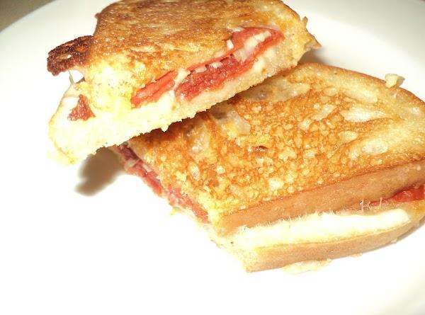 Pizza Grilled Ciabatta Bread Sandwich Recipe