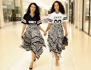 Fashion influencer Sarah Langa twinning with her friend Kla the Real!