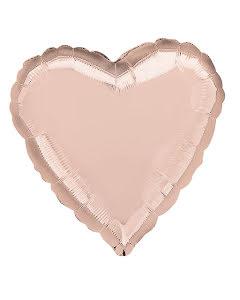 Folieballong, hjärta rose