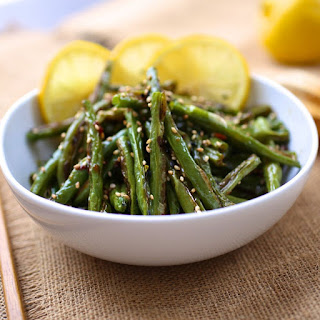 Caramelized Green Beans with Soy and Lemon.