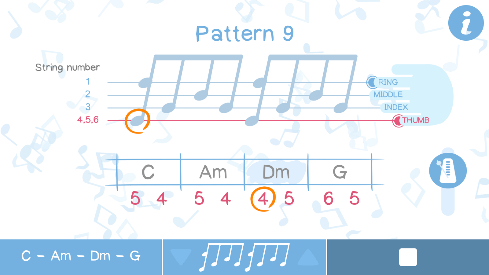 Arpeggio Pattern: Guitar tool- screenshot