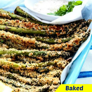 Easy Baked Asparagus Fries With Herb Breadcrumbs