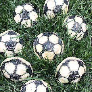 Soccer Ball Chicken Chile Relleno Empanadas.