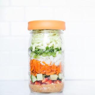 Peanut Noodle Salad in a Jar
