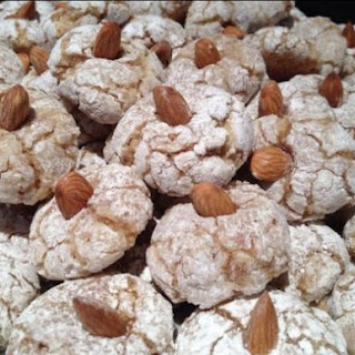 Soft Chewy Almond Cookies.