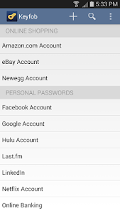 Keyfob Password Manager screenshot 0