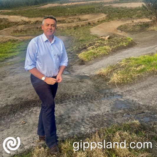 Federal Member for Gippsland Darren Chester recently visited the Haunted Hill Bike Park to check out the progress of the works