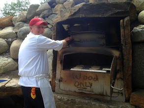 Photo: Day 2: Italy: Getting the oven hot for our homemade pizzas