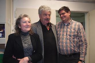 Photo: KÜNSTLERGESPRÄCH MIT BERND WEIKL am 6.2.2016. Dkfm. Liane Bermann, Dr. Bernd Weikl, Marcus Haimerl. Copyright: Herta Haider