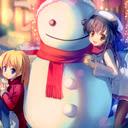 Cute christmas girl them 1680x1050