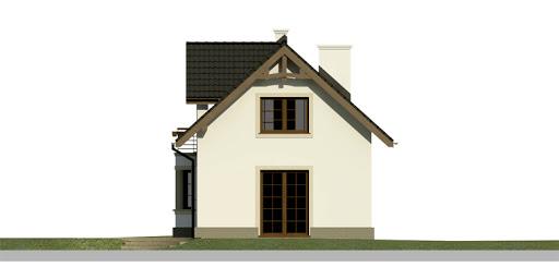 Dom przy Waniliowej - Elewacja tylna