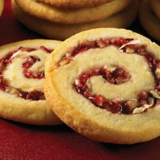Pinwheel Cookies with Raspberry