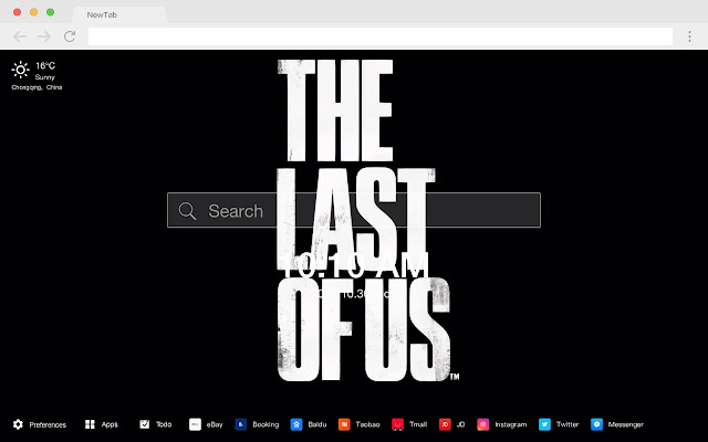 The Last Of Us HD Games New Tabs Themes