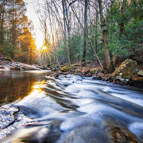 a2 by Matthew Robertson - Landscapes Waterscapes ( water, waterfall, fall, long exposure, rock, sun, river )