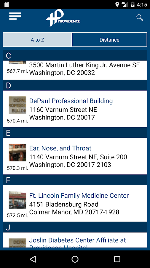 Providence Health System DC- screenshot