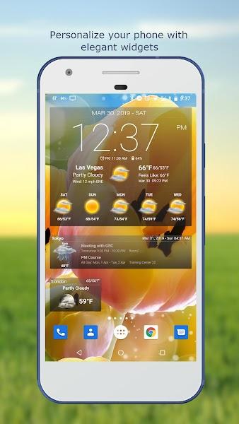 Download APK: Weather&Clock Widget Ad Free v4.1.2.5 [Paid]