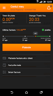 Contul meu Orange- screenshot thumbnail
