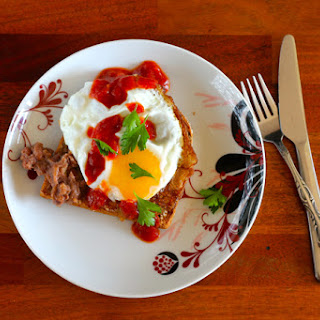Toast for Dinner - Refried Beans, Fried Egg, and Salsa Recipe