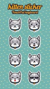 Cute Kitten TouchPal Keyboard Sticker - náhled
