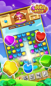 Cookie match 3 puzzle game apk screenshot