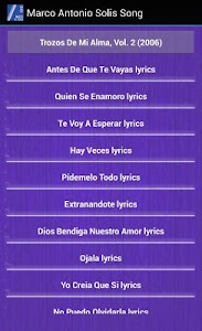 Marco Antonio Solís Lyrics screenshot 1