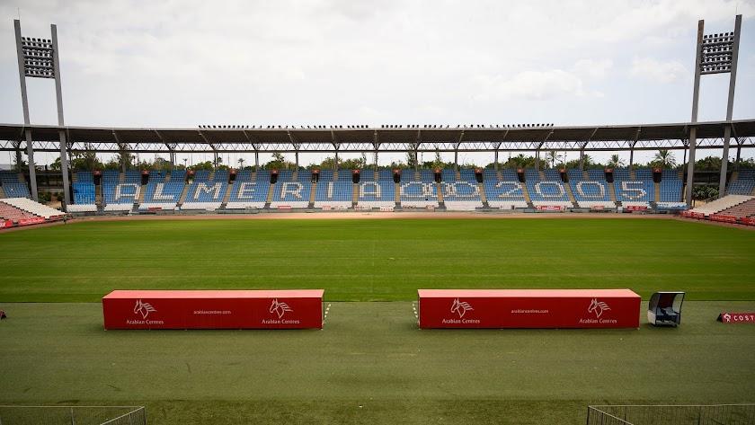 Imagen del interior del Estadio de los Juegos Mediterráneos