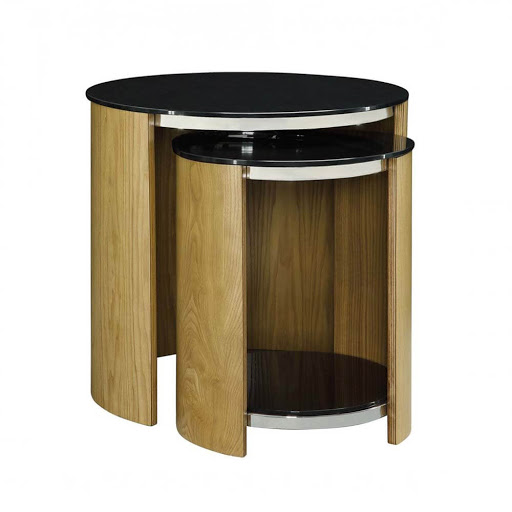 Jual Curve Oak JF305 Nest of Tables