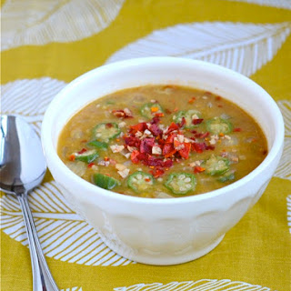 Red Lentil and Okra Soup