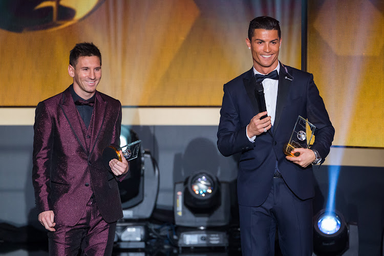 Cristiano Ronaldo and Lionel Messi at the Fifa Ballon d'Or in Zurich, Switzerland, in 2015