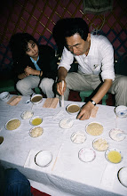 Photo: 03504 シリンホト郊外/観光ゲル/食事
