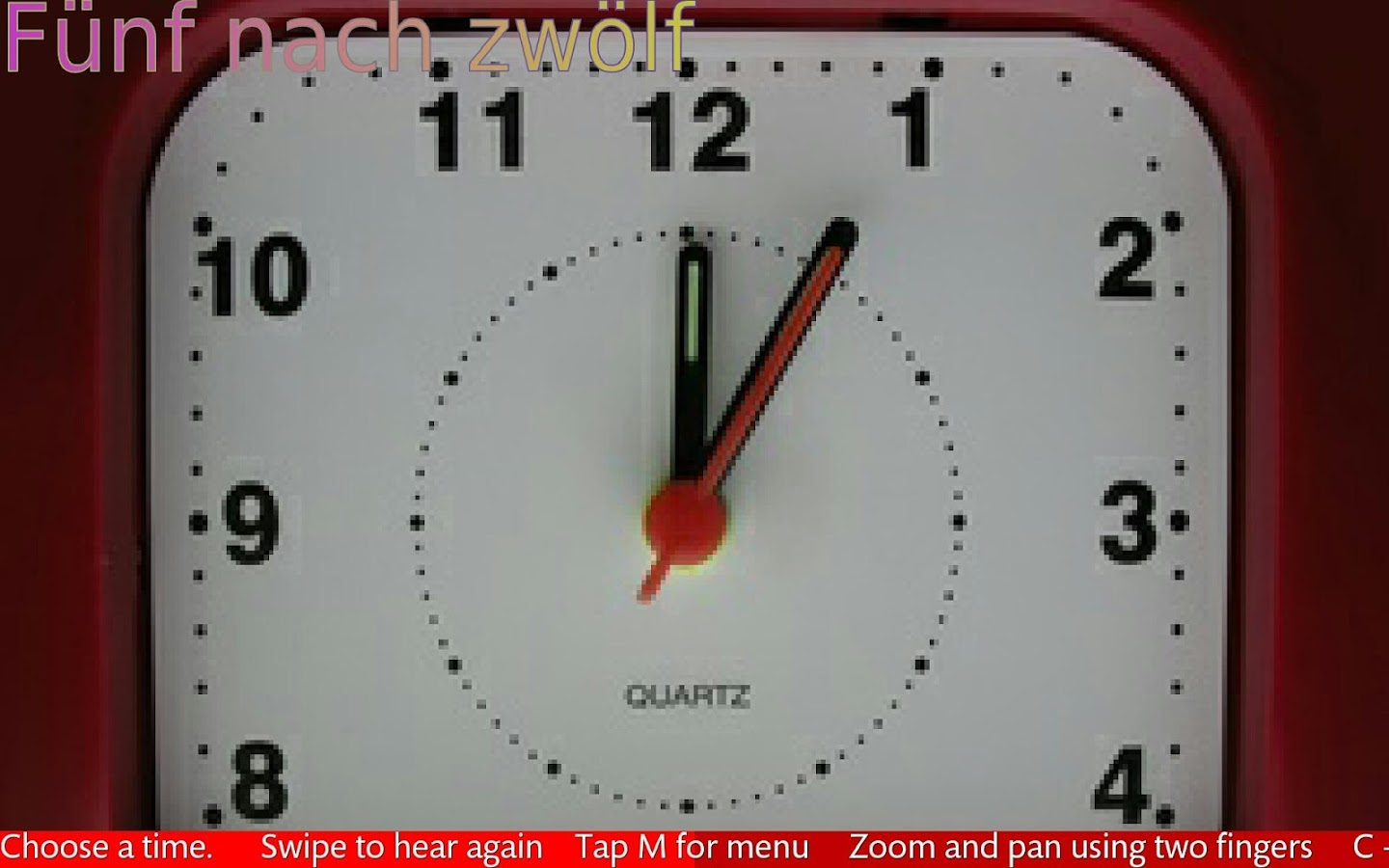 Tell The Time In German- screenshot