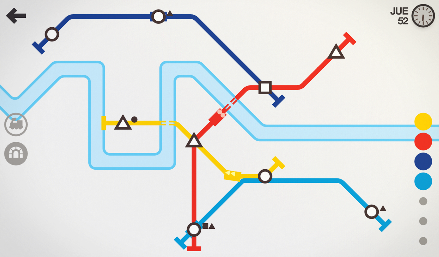 Mini Metro: captura de pantalla