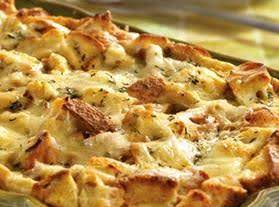 French Onion Beef Bread Pudding Casserole