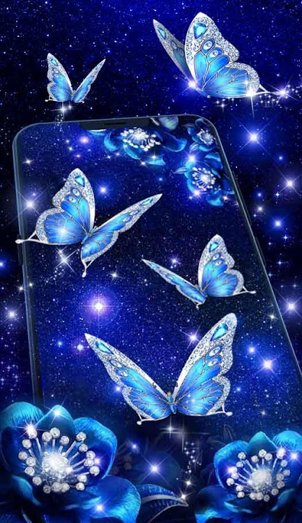 Shiny Blue Butterfly Live Wallpaper Android Aplicaciones