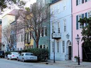 Photo: Rainbow row in Charleston's historic district