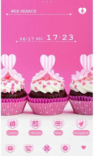 Cute Theme Pink Heart Cupcakes 1.0.0 Windows u7528 1